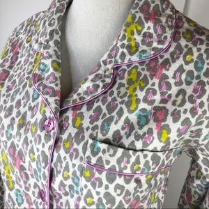 Joe Boxer Leopard Animal Print Pajamas Sleep Set